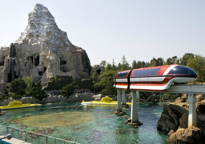The Monorail at Disneyland