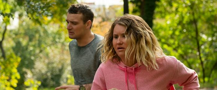 Micah Stock and Jillian Bell in Brittany Runs a Marathon