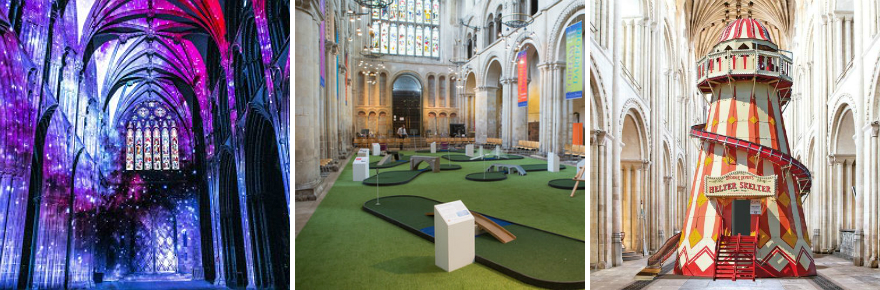 Englands cathedrals find ways to entice visitors