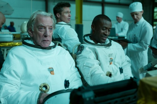 Donald Sutherland, Brad Pitt and Sean Blakemore in Ad Astra