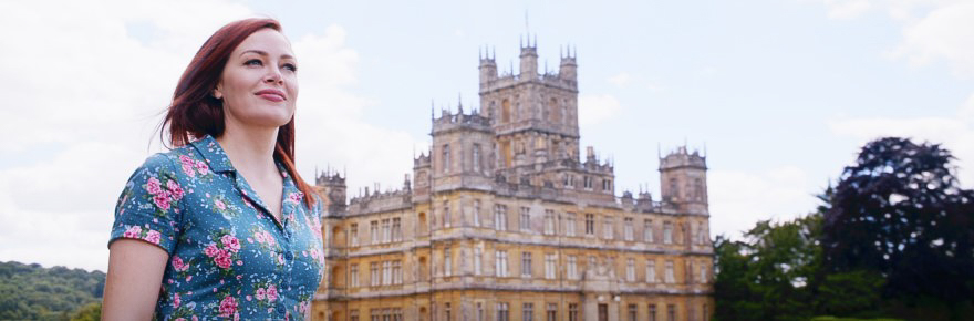 Outside Highclere Castle from Downton Abbey