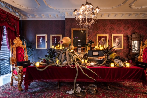 The Addams dining room