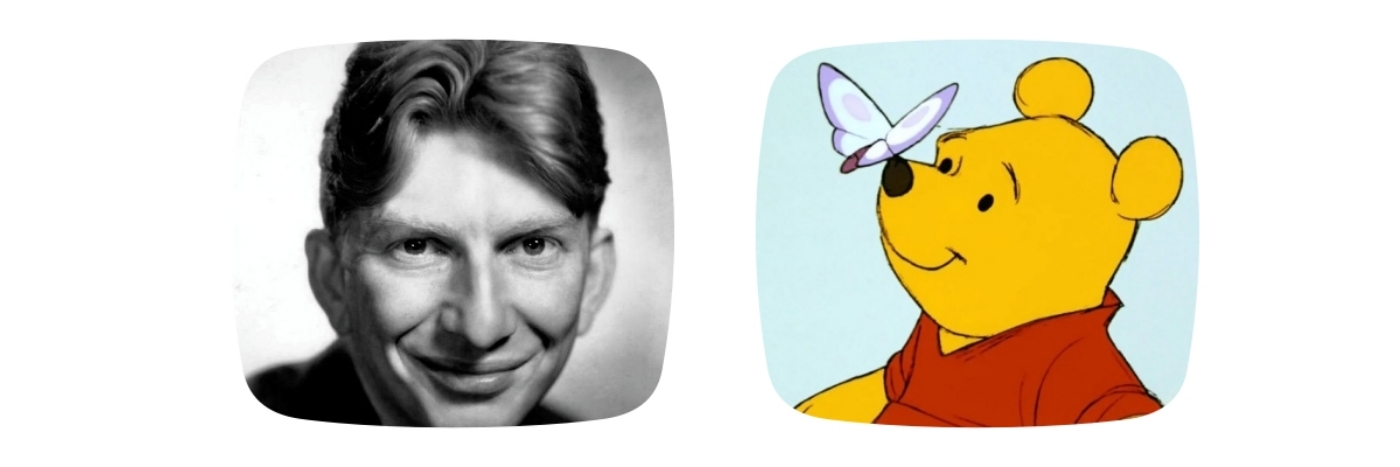 Sterling Holloway and Winnie the Pooh