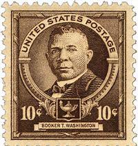 Booker T Washington stamp