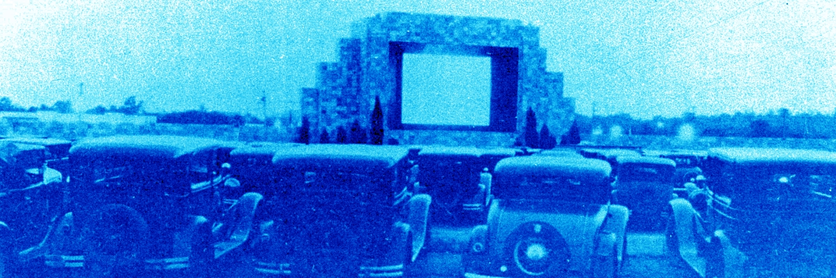The first drive-in theater