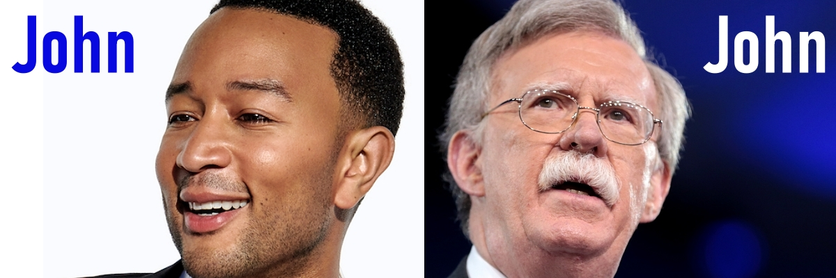 John Legend and John Bolton