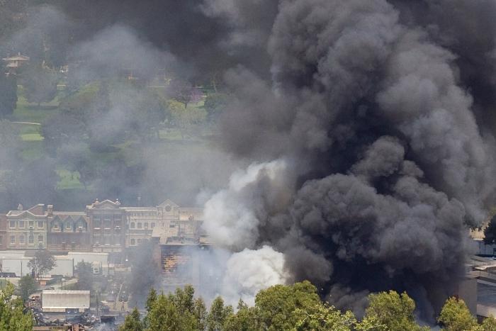 Fire at Universal Studios