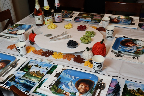 Bob Ross Party Table