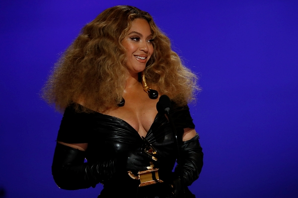Beyonce at the 2021 Grammys