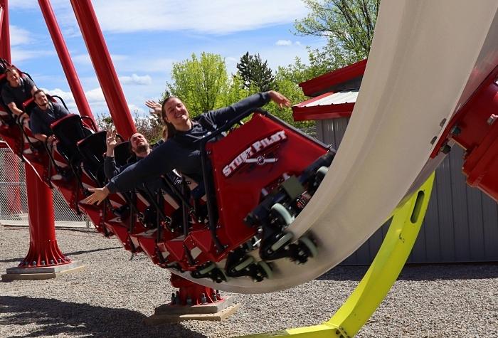 Stunt Pilot roller coaster at Silverwood Theme Park